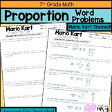 Mario Kart Proportion Word Problems for Distance Learning