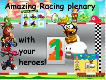 Mario Kart style Racing Plenary Game