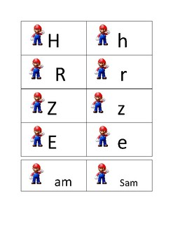 Mario Letters Sight Words Sounds Pack 1