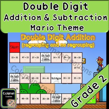 Mario Math Double Digit Addition and Subtraction