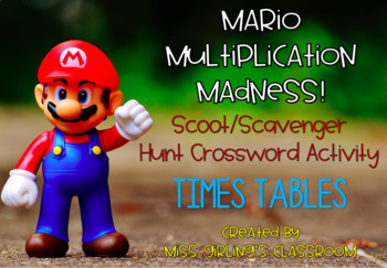 Mario Multiplication Madness {Scoot/Scavenger Hunt Number Puzzle Activity}
