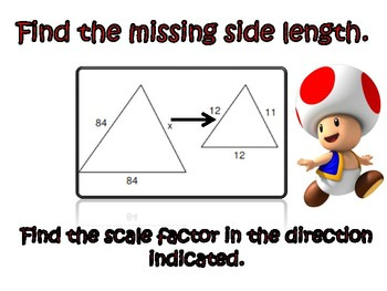 Mario Party Similar Figures and Scale Factors