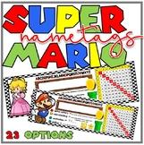 Mario Theme Race Car Desk Plate/ Name Tag