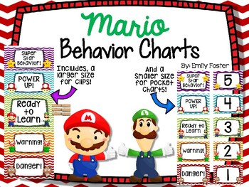 Mario Themed Behavior Charts