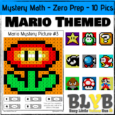 Mario Themed Mystery Math Pictures (Number Recognition) NO PREP Printables