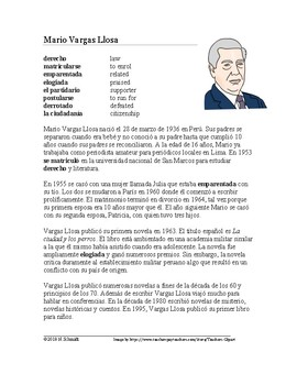 Mario Vargas Llosa Biografía: Spanish Biography on a Famous Peruvian Writer