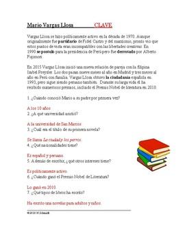 Mario Vargas Llosa Biografía: Spanish Biography on a Famous Peruvian Writer