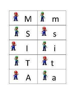 Mario and Luigi Letters Sight Words Sounds Pack 1