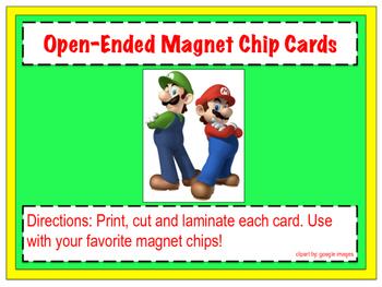 Mario and Luigi Magnet Chip Boards
