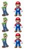 Mario and Luigi alphabet sort