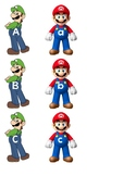Mario and Luigi alphabet sort