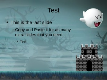 Mario fights a Ghost PPT Template