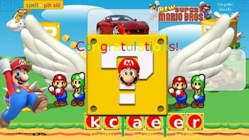 Super Mario's Spelling Challenge