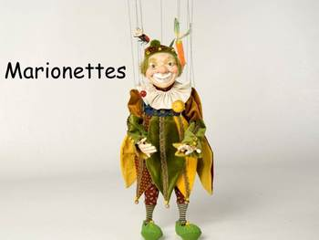 "Marionettes Nonfiction PowerPoint ""Book"" for First or Second Grade"