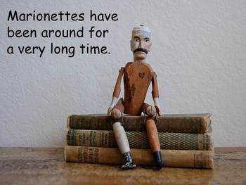 """Marionettes Nonfiction PowerPoint """"Book"""" for First or Second Grade"""