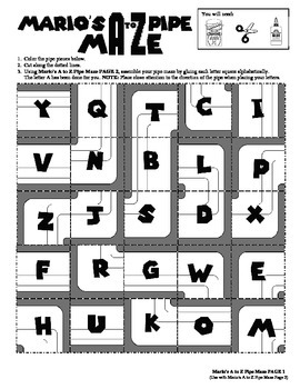 Mario's A to Z Pipe Maze (ABC Order)