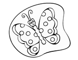 Mariposa Butterfly Coloring page JPG
