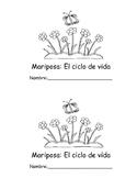 Mariposa: El ciclo de vida (Librito para leer y colorear)
