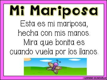 Mariposa Poem and Craft