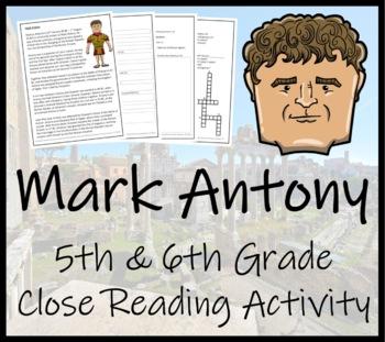 Mark Antony - 5th & 6th Grade Close Reading Activity
