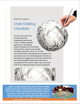 Mark Making Mandala Handout