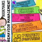 Behavior Chart Bookmarks for Independent Reading