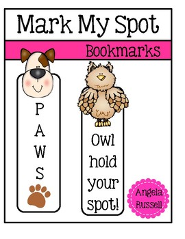 Mark My Spot - Large Bookmarks
