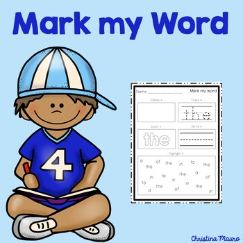 Mark My Word: Word Work