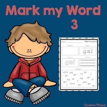 Mark My Word: Word Work 3