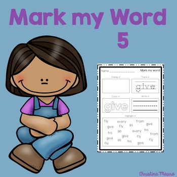 Mark My Word: Word Work 5