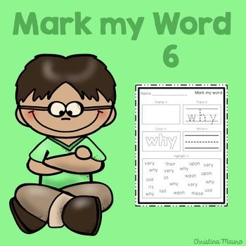 Mark My Word: Word Work 6