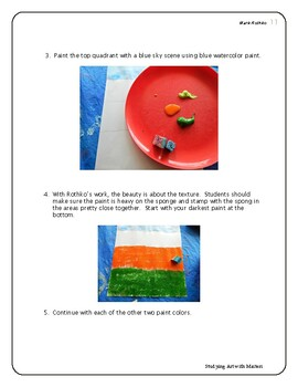 """Mark Rothko Lesson """"No.6 Violet, Green and Red"""" K-6 Kids Art Lesson"""