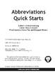 Mark Twain – Abbreviations Quick Starts Workbook, Language Arts Resource Book