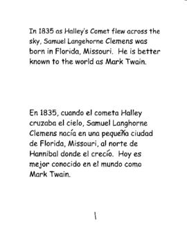 Mark Twain Bilingual Black Line Coloring Book