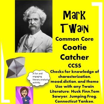 Mark Twain Common Core Cootie Catcher