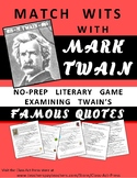 Mark Twain: Examine Famous Quotes: Literature, Critical Th