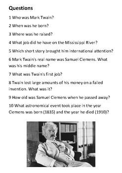 Mark Twain Handout