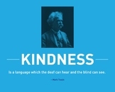 Mark Twain Inspirational Quote Poster on Kindess