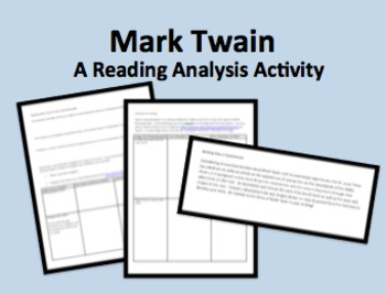 Mark Twain Life on the Mississippi Ch8-9 Reading Guide & Activities