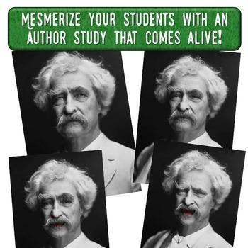 Mark Twain Magic Portrait Video & PowerPoint for Author Study
