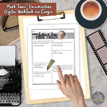 Mark Twain Biography Video Viewing Guide with Figurative Language Quotations