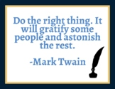 Mark Twain Quote Poster (FREE)