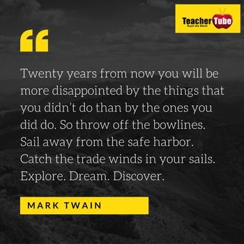 Mark Twain Quote for the Classroom