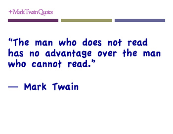 Mark Twain Quotes (pdf posters)