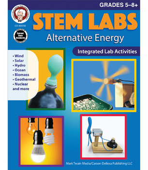 Mark Twain – STEM Labs: Alternative Energy Workbook, Science Resource Book