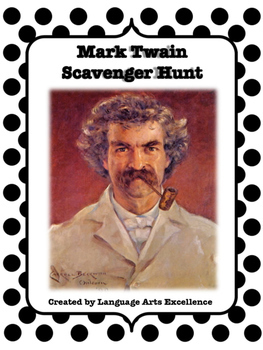 Mark Twain Scavenger Hunt: Introduction to the Author Activity