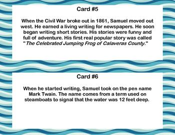 Mark Twain Scavenger Hunt- Read The Room- Grades 4-7