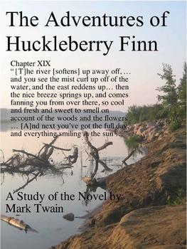 Mark Twain Studies: Huck Finn AP Writing, 4 Pages, Can Be