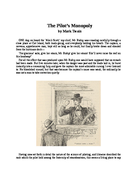 "Mark Twain - ""The Pilot's Monopoly"""