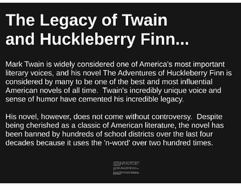 Mark Twain and The Adventures of Huckleberry Finn--Background and Context PREZI